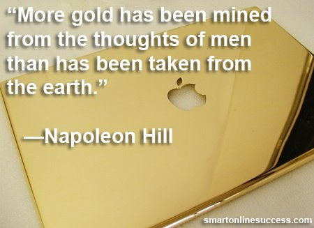 Napoleon Hill Gold Thoughts Success Quote