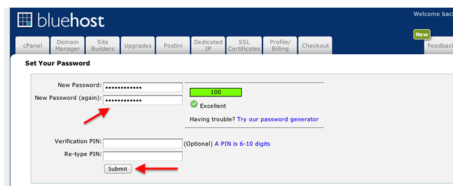 bluehost-new-account-set-password