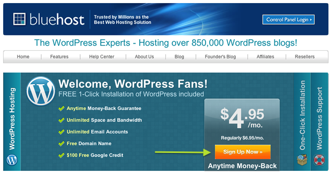 bluehost-wordpress-landing-page
